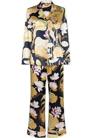 Olivia von Halle Lila Hasani floral-print pajama set