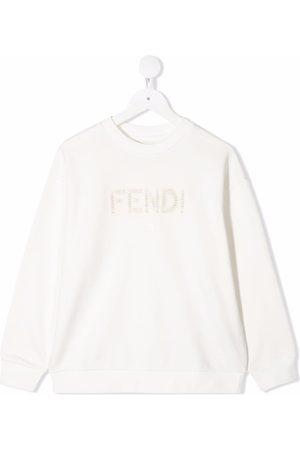 Fendi Embroidered-logo long-sleeve sweatshirt