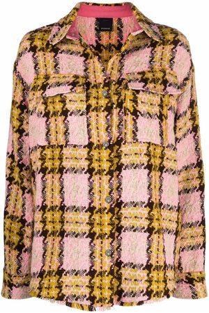 Pinko Women Denim Jackets - Check-pattern oversized jacket