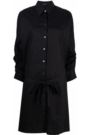 ANN DEMEULEMEESTER Gathered-sleeve shirt dress