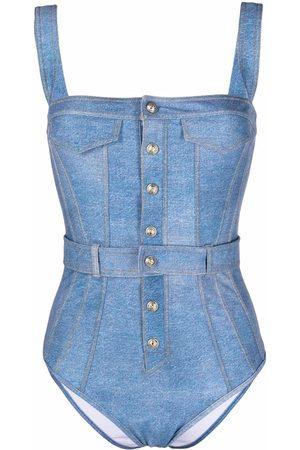 Balmain Women Beachwear - Snap-button one-piece