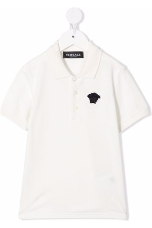 VERSACE Medusa-detail polo shirt