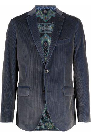 Etro Men Blazers - Corduroy single-breasted blazer