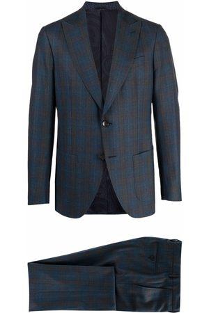 Etro Men Blazers - Tartan-check single-breasted blazer