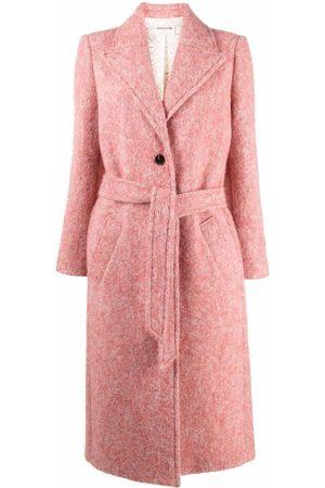 Zadig & Voltaire Women Coats - Monaco tie-waist coat