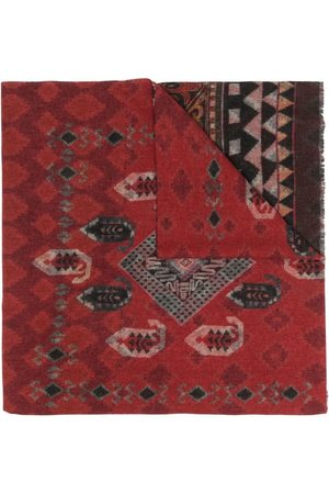 Etro Carpet-Pattern wool scarf