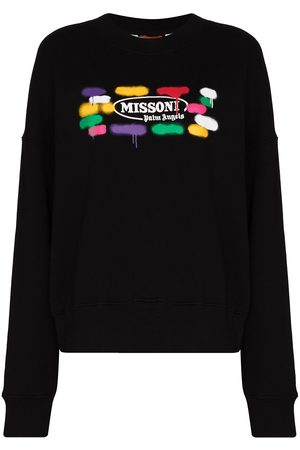 Palm Angels Women Sports Hoodies - X Missoni Sport crew neck sweatshirt