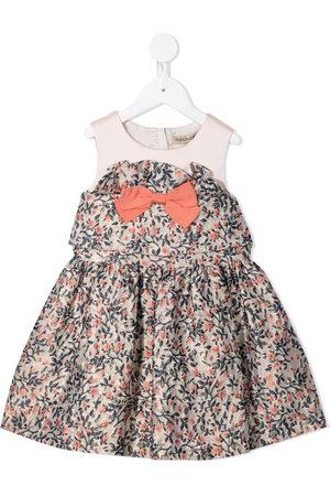 HUCKLEBONES LONDON Girls Printed Dresses - Floral-print ruffled dress