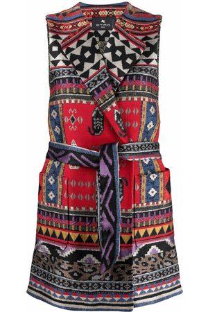 Etro Women Gilets - Patterned-jacquard sleeveless jacket - Neutrals