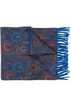 Etro Men Scarves - Paisley-print silk-lined cashmere scarf