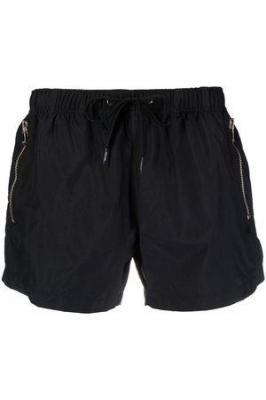 Moschino Men Swim Shorts - Metallic-logo swim shorts