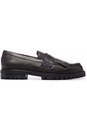 Etro Men Loafers - Spot-print tassel leather loafers