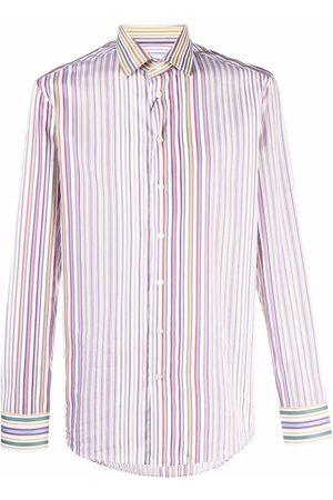 Etro Multi-colour Stripe Three Fabric shirt - Neutrals