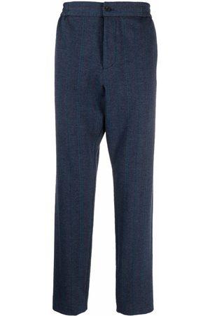 Etro Chevron-knit straight-leg trouser