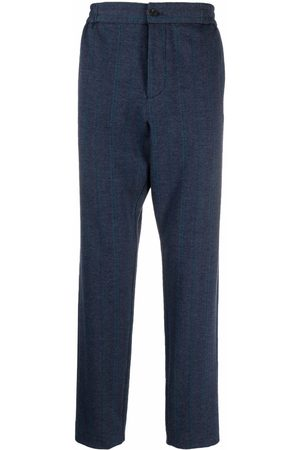 Etro Men Straight Leg Pants - Chevron-knit straight-leg trouser