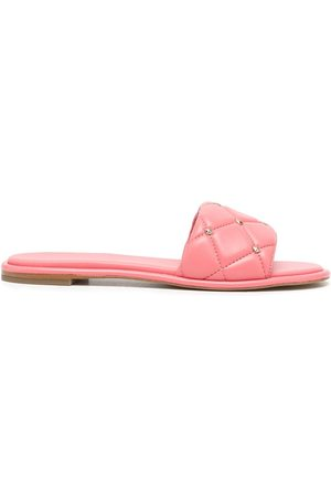Michael Kors Women Sandals - Rina quilted leather slides