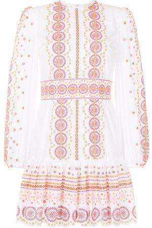 Michael Kors Women Party Dresses - Broderie anglais cotton mini dress