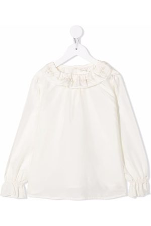 Bonpoint Jaya ruffle-trim silk blouse - Neutrals