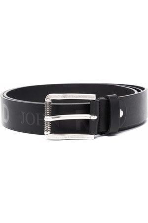 John Richmond Kinap logo-print leather belt