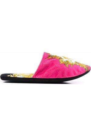 VERSACE Slippers - Medusa Renaissance-print slippers