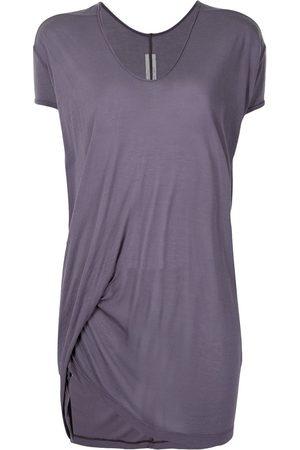 Rick Owens Women Short Sleeve - Ruched short-sleeved T-shirt