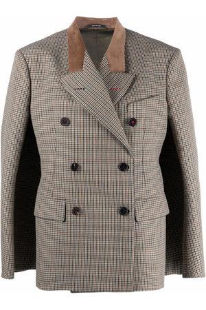 Maison Margiela Houndstooth double-breasted blazer - Neutrals