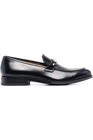 Salvatore Ferragamo Men Loafers - Horsebit-detail square-toe loafers