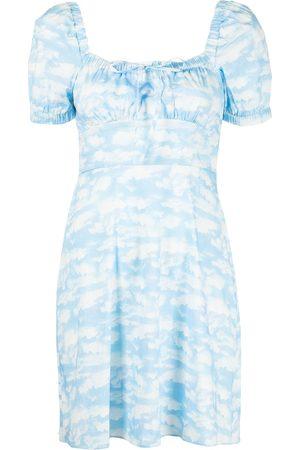 Harley Viera-Newton Women Party Dresses - Mini Holland cloud-print dress