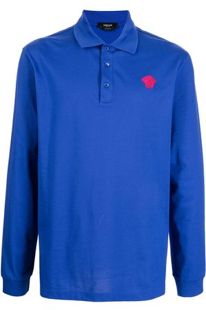 VERSACE Medusa long-sleeve polo shirt
