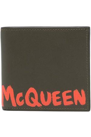 Alexander McQueen Men Wallets - Logo-print leather wallet