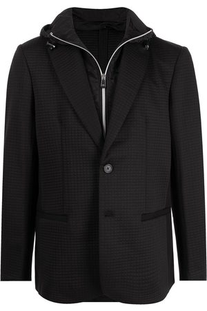 Armani Single-breasted hooded blazer