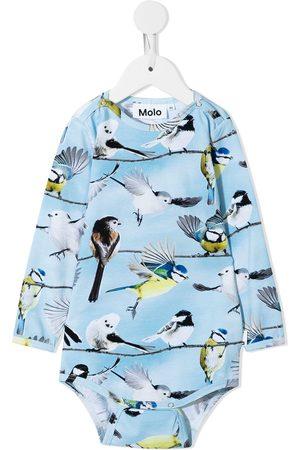 Molo Rompers - Bird-print babysuit