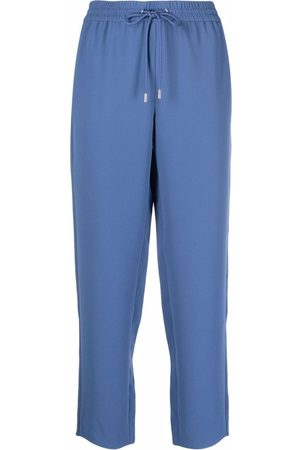 THEORY Drawstring-waist track pants