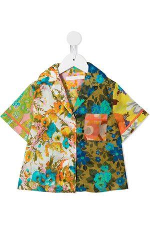 ZIMMERMANN Girls Short sleeves - Floral-print short-sleeve shirt - Multicolour