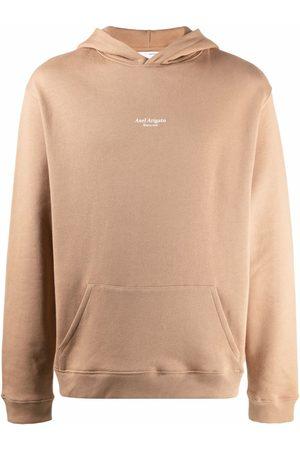 Axel Arigato Logo-print pullover hoodie - Neutrals