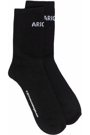 Axel Arigato Men Socks - Logo-knit ankle socks