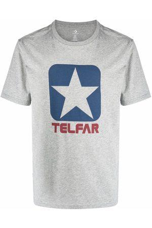 TELFAR Short Sleeve - Logo-print short-sleeved T-shirt - Grey