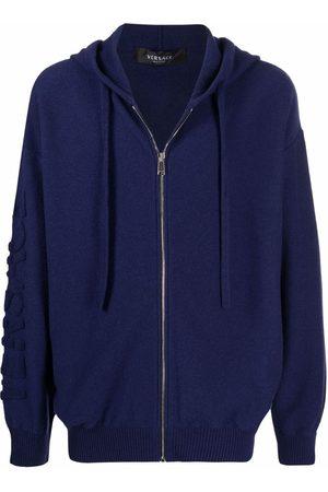 VERSACE Men Hoodies - Medusa-head motif zip-fastening hoodie