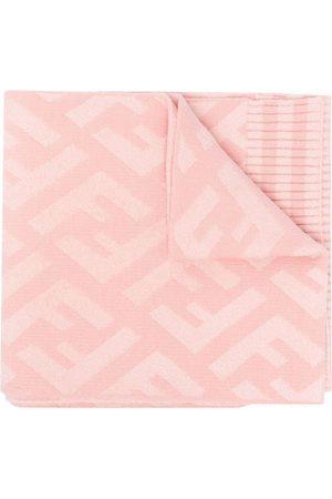 Fendi Girls Scarves - Monogram-pattern scarf