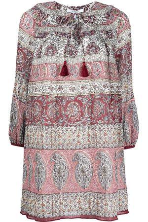 Derek Lam Tassel-trim paisley-print minidress - Multicolour