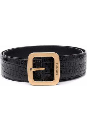 Tom Ford Crocodile-effect leather belt