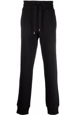 VERSACE Rib-trimmed cotton track pants