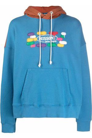 Palm Angels Men Hoodies - X Missoni logo-print drawstring hoodie