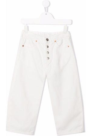 MM6 KIDS Boys Straight - High-rise straight leg jeans