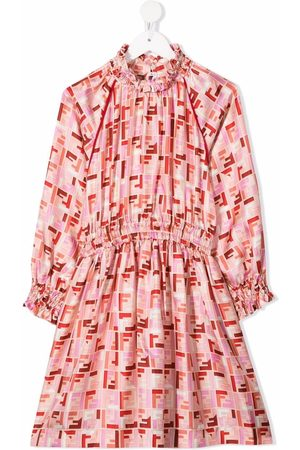 Fendi Girls Printed Dresses - Chinese New Year FF-logo print dress