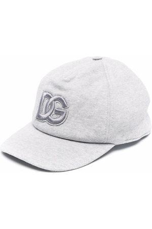 Dolce & Gabbana Boys Caps - Embroidered-logo baseball cap - Grey