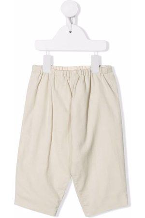 BONPOINT Straight leg cotton trousers - Neutrals