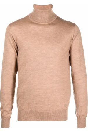 Emporio Armani Men Turtlenecks - Roll neck knitted jumper - Neutrals