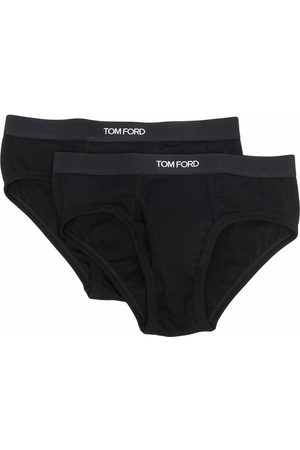 Tom Ford Men Boxer Shorts - Two-pack logo-waistband briefs