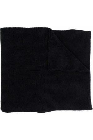 Moncler Girls Scarves - Logo-patch rib-knit scarf
